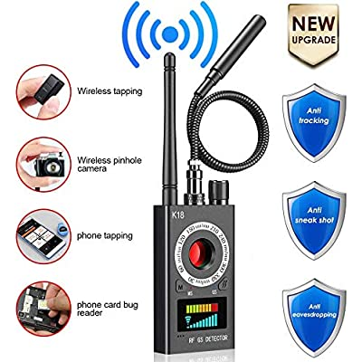 Anti Spy Detector, RF Detector & Camera Finder, Bug Detector, Wireless Bug Hidden Camera Detector for GPS Tracking GSM Listening Device Finder, Radio Frequency RF Detector, Upgraded Version: Home Audio & Theater