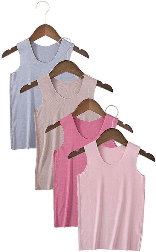 Camisetas sin mangas para niños Algodón Chaleco elástico para ...