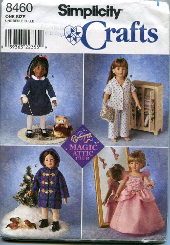 ttern 8460 Doll Clothes for 18