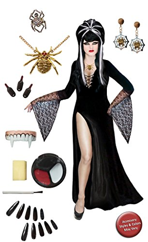 [Dark Mistress Plus Size Supersize Halloween Costume Deluxe Wig Kit XL] (Elvira Plus Size Costumes)