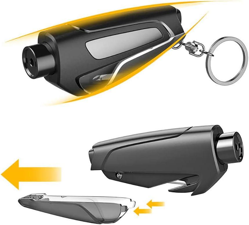 Auto-Fenster-Unterbrecher-lebensrettende Flucht-Rettungs-Werkzeug-Sicherheitsgurt-Schneider Keychain 2Psc//Black Lz Auto-Sicherheitshammer
