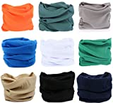 KINGREE 9PCS Outdoor Multifunctional Sports Magic Scarf, High Elastic Magic Headband with UV Resistance, Headscarves, Headbands,(9 Solid Color (D))