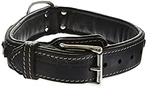 Dean & Tyler Dean's Legend Dog Collar with Black Padding and Chrome Plated Steel Hardware, 18 by 1-1/2-Inch, Black