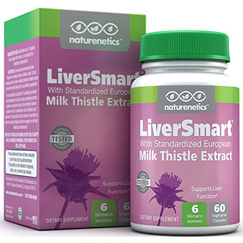 LiverSmart; European Milk Thistle Plus 5 Additional Liver Supporting Ingredients - Contains 6 Key Silymarin Isomers - Independently Tested - Vegan - Non-GMO - Gluten Free - 60 Capsules