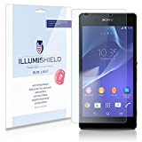 iLLumiShield - Sony Xperia Z2 (HD) Blue Light UV Filter Screen Protector Premium High Definition Clear Film / Reduces Eye Fatigue and Eye Strain - Anti- Fingerprint / Anti-Bubble / Anti-Bacterial Shield - Comes With Free LifeTime Replacement Warranty - [2-Pack] Retail Packaging