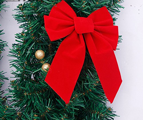 Christmas Garland for Stairs fireplaces Christmas Garland Decoration Xmas Festive Wreath Garland with Christmas ball rattan Christmas,picture color,270cm by Caribou Furniture And Decor