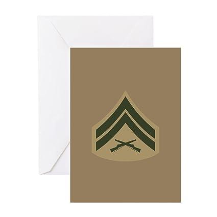 Amazon Cafepress Usmc Cpl E 4 Service B Greeting Card