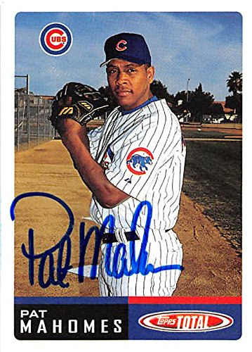 Autograph Warehouse 245748 Pat Mahomes Autographed Baseball Card - Chicago Cubs 2002 Topps Total - No. 534 from Autograph Warehouse