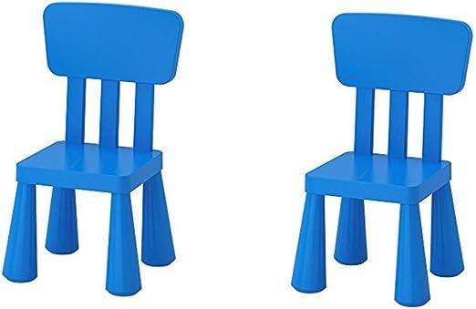 Amazon Com Ikea Mammut Kids Indoor Outdoor Children S Chair Blue