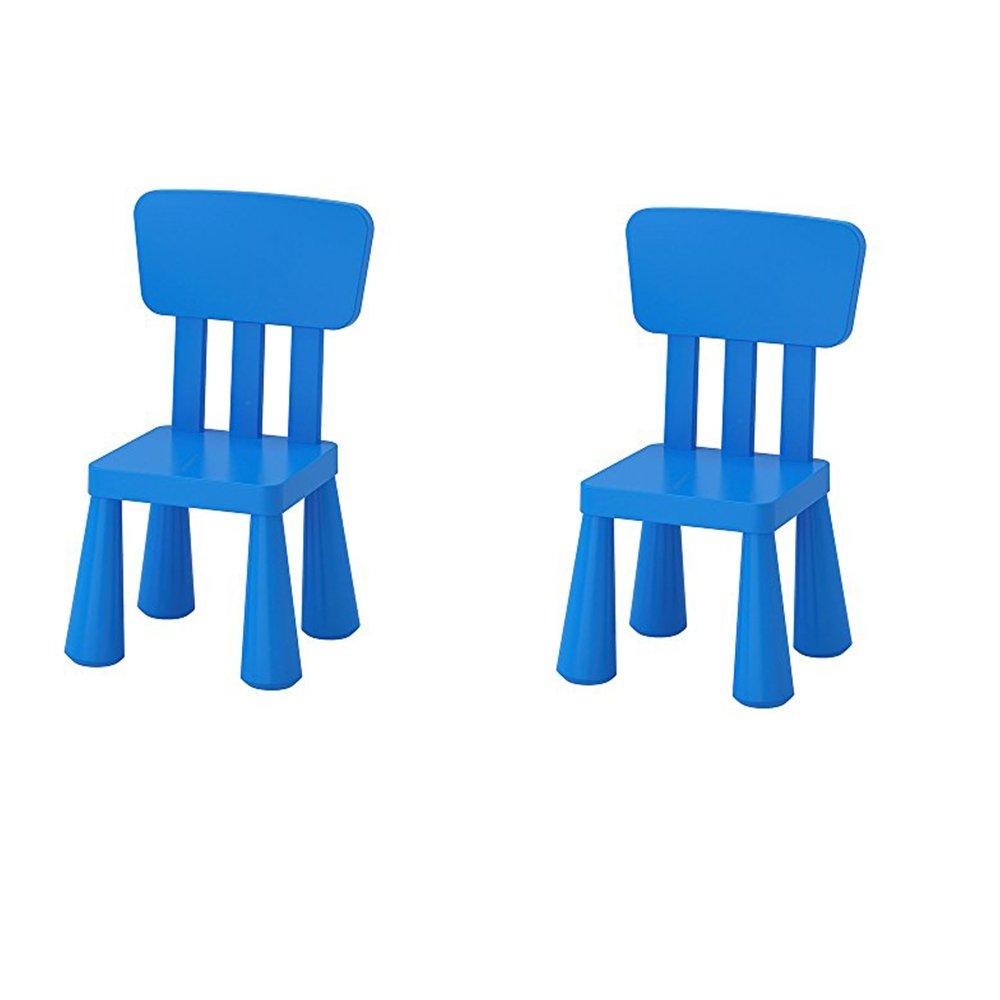 Ikea Mammut Kids Indoor / Outdoor Children's Chair, Blue Color - 2 Pack