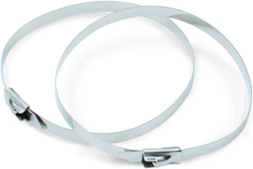 """DEI 010201 Stainless Steel Positive Locking Ties for Exhaust Wrap 8/"""" Set of 8"""