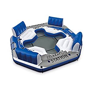 Intex Pacific Paradise 4-Person Relaxation Station Water Lounge River Tube Raft