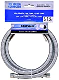 Eastman 41033 Ss Icemaker Connector with 1/4-Inch Comp X 1/4-Inch Comp