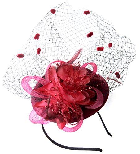 FREE 2 day Ship Coolwife Womens Fascinators Hat Pillbox Hat British Bowler ..