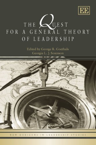 Books : The Quest for a General Theory of Leadership (New Horizons in Leadership Studies Series)