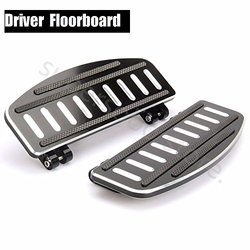 Kit Footboard (CNC Driver Footboard Insert Kit For Harley Touring 86-18 floorboards Softail 86-18)