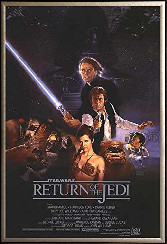 Framed Return of the Jedi Star Wars Movie 27x40 Poster in Go