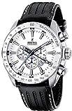 Festina Men's Stainless Steel White Dial Black Strap Chronograph Watch F16489/1