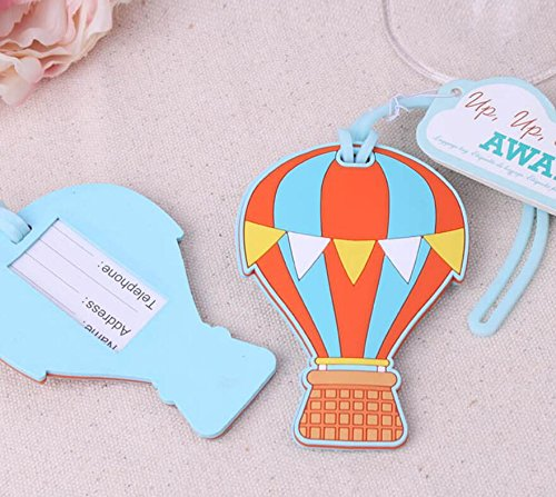 100pcs Hot Air Balloon Away Luggage Tag For Baby Shower Gifts & Wedding Favors