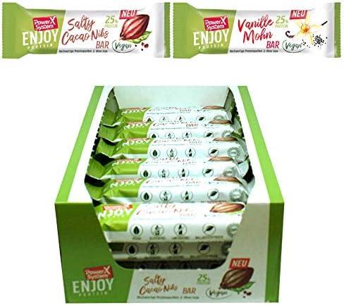 Power System Enjoy Protein Riegel, vegan 14 x 45g (Mix Pack)