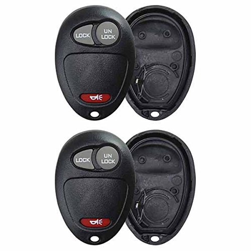 KeylessOption Just the Case Keyless Entry Remote Key Fob Shell For L2C0007T (Pack of 2) (08 Shell)