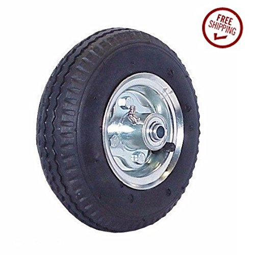 Offset Hub Fully Inflated Pneumatic Air Tire Hand Truck Wheel 8'' x 2.50'' 5/8'' ID
