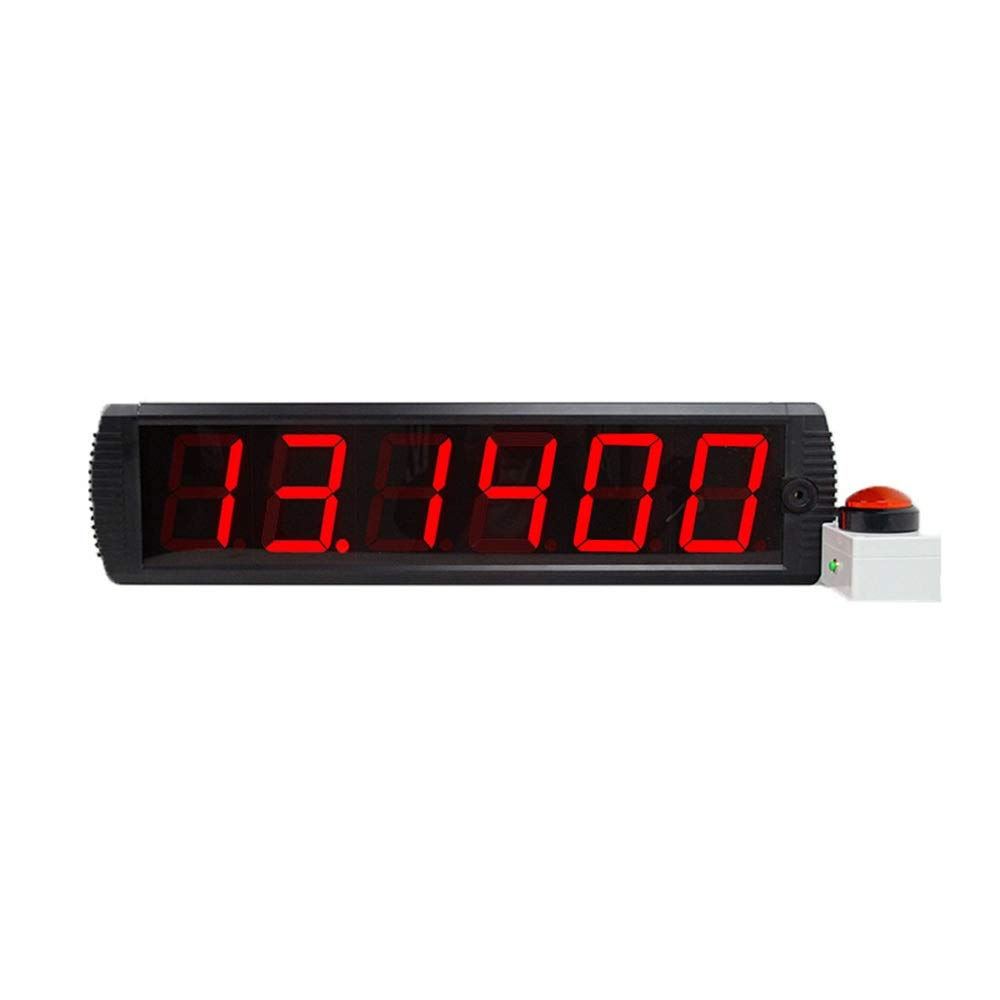 JIANGXIUQIN-Home Large Digital Clock Digits LED Countdown Hours Minutes Remote Count UP Stopwatch and Clock for Office School (Color : Black, Size : 65X16X4.5CM) by JIANGXIUQIN-Home