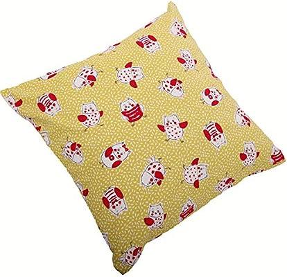 Almohada de 40 x 40 cm, Körner ovalada puntos, algodón de cebada ...