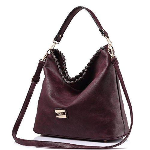 Wine Handbag Capacity Hobos Tote for Red Bag Shoulder Women Messenger Purse Bags Large rPrwfqd0