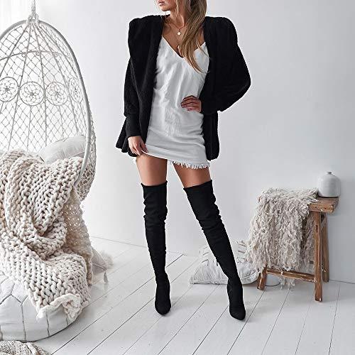 À Longue Capuche Manteau Pullover Manche Noir Grande Femme Sweat Taille Aimee7 Peluche En gn0zwwvq