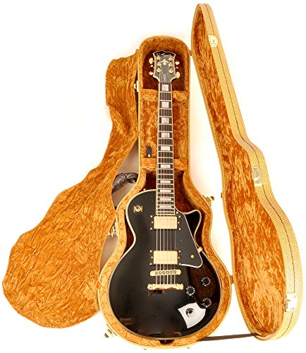 Arched Top Tweed (Douglas EGC-450LP Tweed/Gold Les Paul Case)