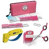 Scaredy Cut Silent Pet Clipper in Pink with a Scissor Sharpener