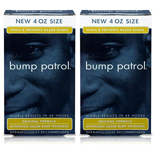 Bump Patrol Original Formula After Shave Bump Treatment Serum - Razor Bumps, Ingrown Hair Solution for Men and Women - 4 Ounces 2 Pack
