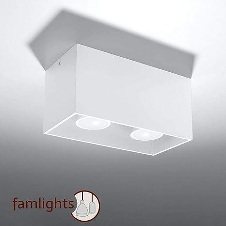 Famlights Deckenspot Alicia Aus Aluminium Weiß