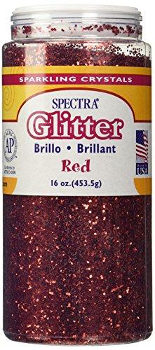 16 oz. Glitter w/ Shaker Top - Red