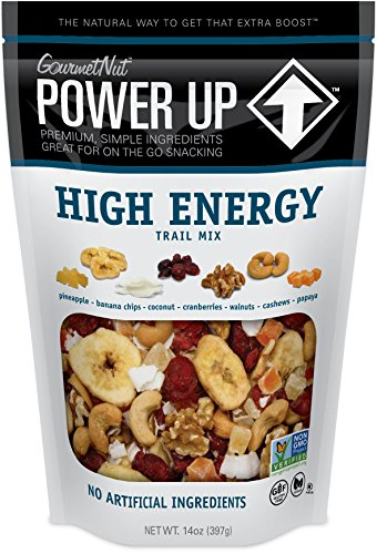 Power Up Trail Mix, High Energy Trail Mix, Non-GMO, Vegan, Gluten Free, No Artificial Ingredients, Gourmet Nut, 14 oz Bag