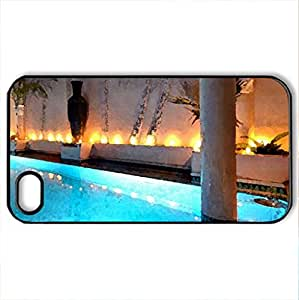 Just Relax - Case Cover for iPhone 4 and 4s (Watercolor style, Black)