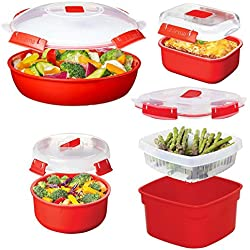 Sistema (8pc) Microwave Cookware & Food Storage Container Set With Lids, Reusable