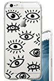 iPhone 6S PLUS Case 5.5 inch Eyes Occult Eye Clear Translucent Transparent Unique Design Pattern Cover For iPhone 6S PLUS also fits iPhone 6 PLUS