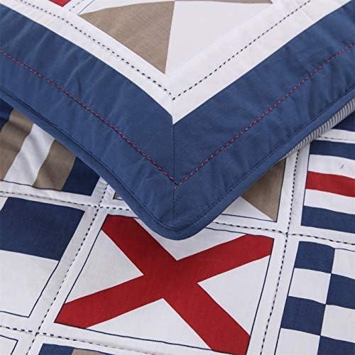 No branded TF8JI Couvre-lit Couvre-lit Matelassée Literie for Le Printemps Et L'été-King / Cal-King-3 Pièces D5FRE ( Size : Kimg )