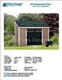 Lean To Roof Style 6' x 10' Deluxe Shed Plans Design # D0610L, Material List and Step By Step Included