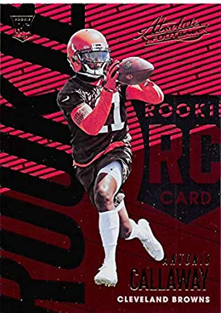 2018 Absolute Football  150 Antonio Callaway Rookie RC Rookie Cleveland  Browns Official NFL Trading Card 39a6e6f2c
