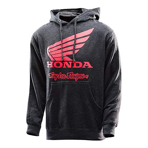 Hoody Sweatshirt Honda (Troy Lee Designs Mens Official Licensed Honda Wing Hoody (Charcoal, Medium))