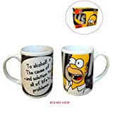 Homer The Simpsons Cheers Tumbler Ceramic Mug by Groovy