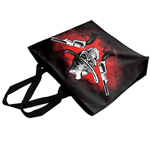 Shoulder Bags Double Shopping skull Printing zipper Women's Galaxy Belsen gun handbag xwq8ZY0HH