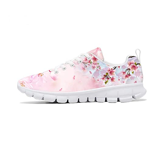 cf4993f8192e7 FIRST DANCE 2018 Women Fashion Sneakers Flower Design Running Tennis ...