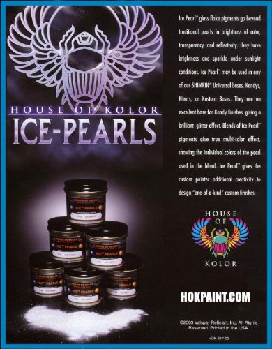 (House of Kolor 4 Oz ICE Pearl White IP02/SG100 BASECOAT)
