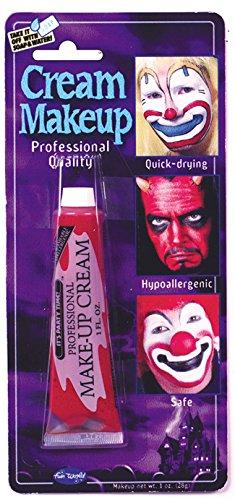 Fun World Women's Red Makeup Cream, Multi,