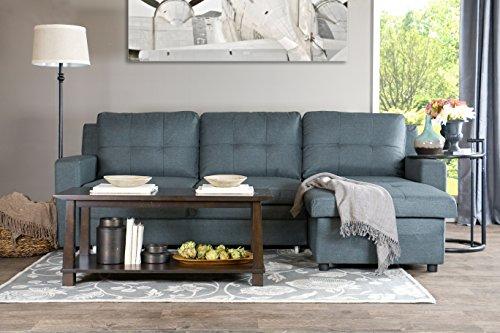 Baxton Studio Staffordshire Sectional Sofa, Gray