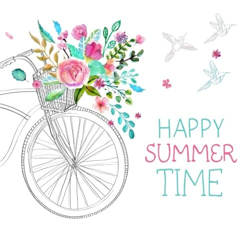 Happy Summer Time: Summer Holiday Journal for Girls pdf epub